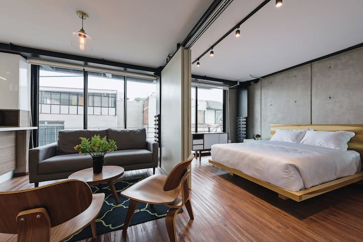 Industrial modern loft for couples or families
