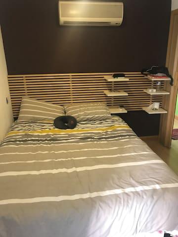Habitación cómoda para estadía corta