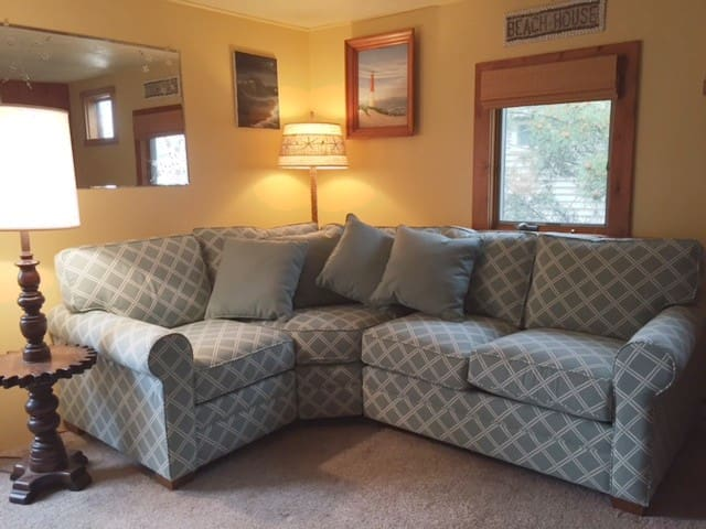 New, super comfortable living room couch.