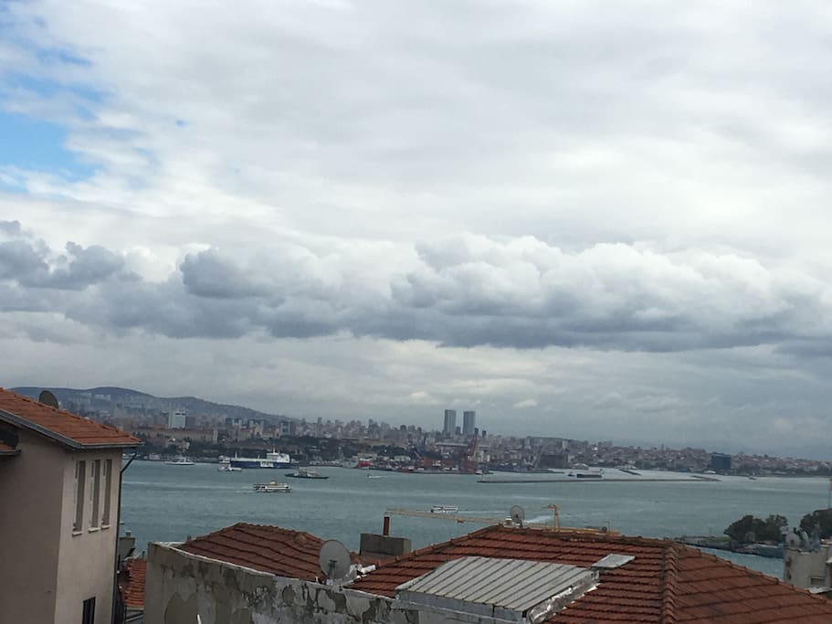 Bosphorus view from balcony