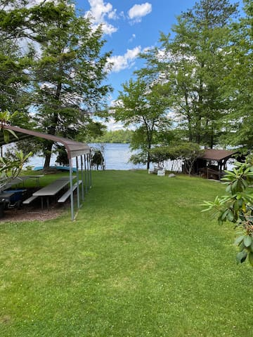 Lake Front Cabin with expansive view of the lake