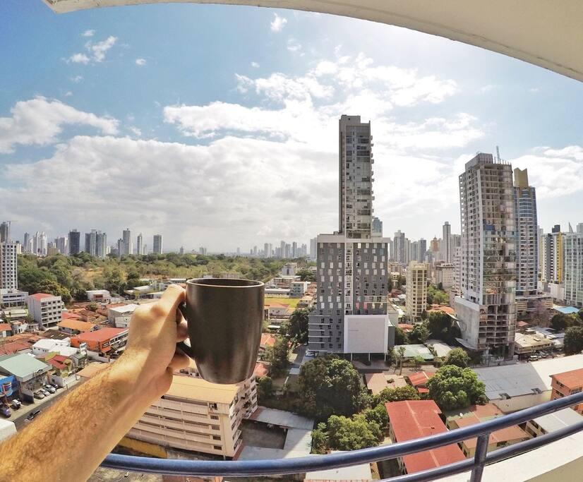 Vista desde su balcon