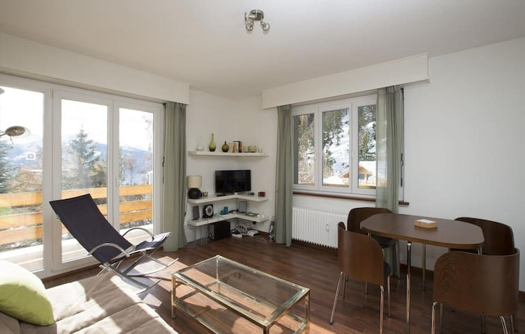 Derby. Nice 2 rooms apartement close to the gondolas of Violettes. View and sunny