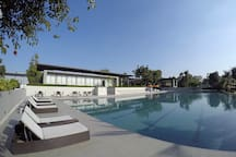 Large swimming pool at sport club