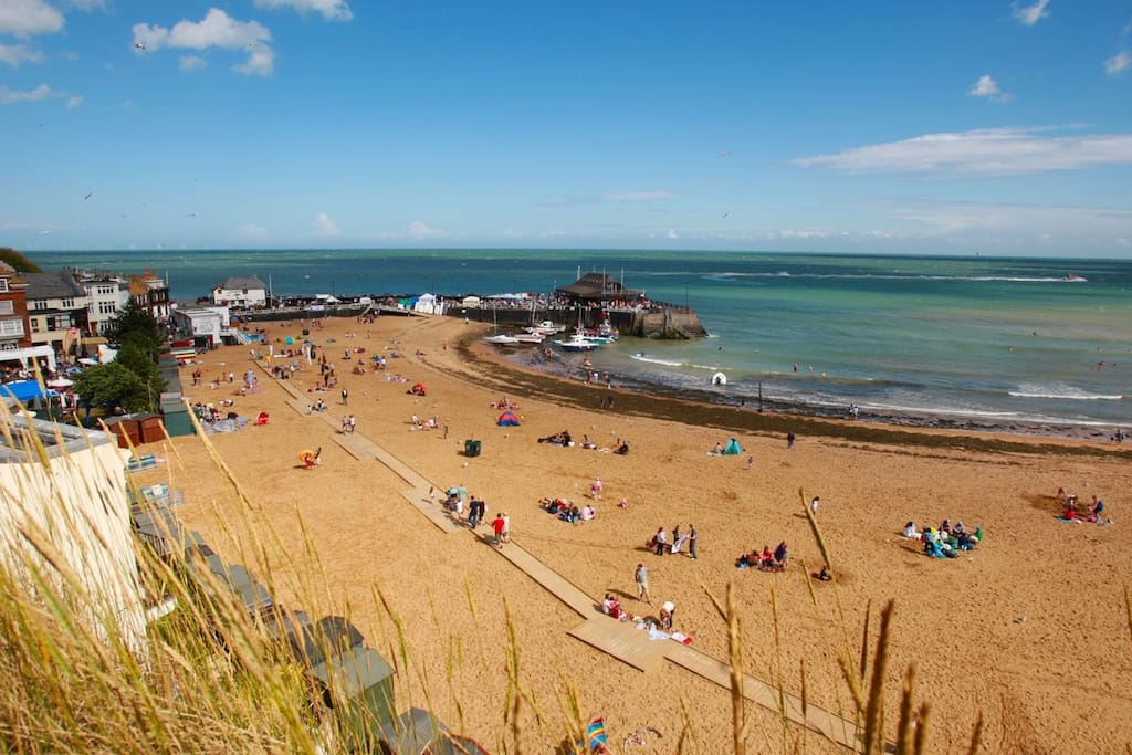 Viking bay in the summer