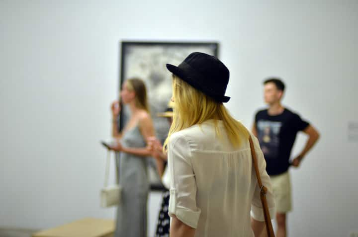 Guests discovering the exhibition