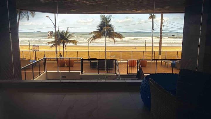 Apartamento pé na areia, praia das Astúrias