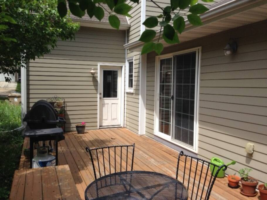 Porch with gas grill