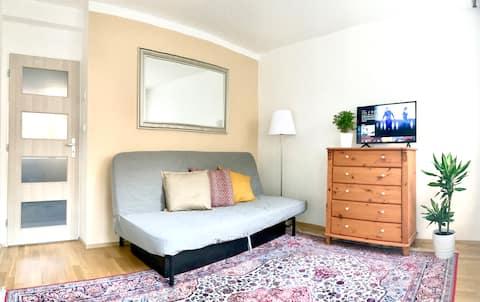 Bright Comfy Hideaway Centre Praha❤️TV Wash Wifi