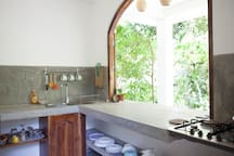 Your private kitchen with breakfast bar.