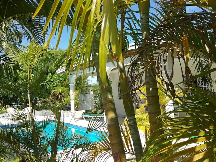 2 bed/2 bath house with pool.