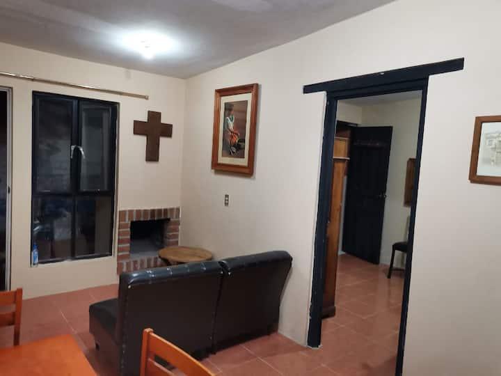 Departamento/loft con chimenea