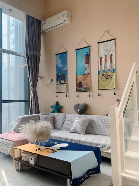 【37°C公寓】loft房型 小复式 近万达广场 爱一方商场 渤海大学  亿隆国际公寓 温馨舒适