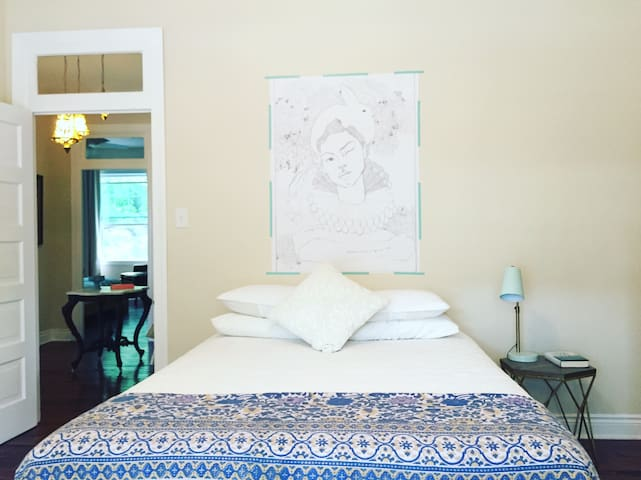 Sweet, airy bedroom in gorgeous foursquare