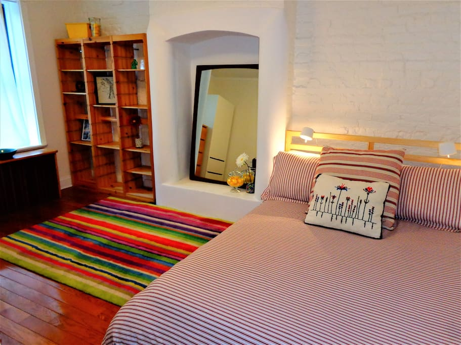 Equally bright and spacious bedroom # 2 has full/double-size bed (accommodates 2 guests).