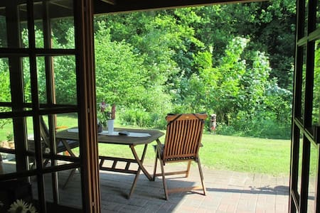 Ruhige ostseenahe Ferienwohnung Haus am Wald EG