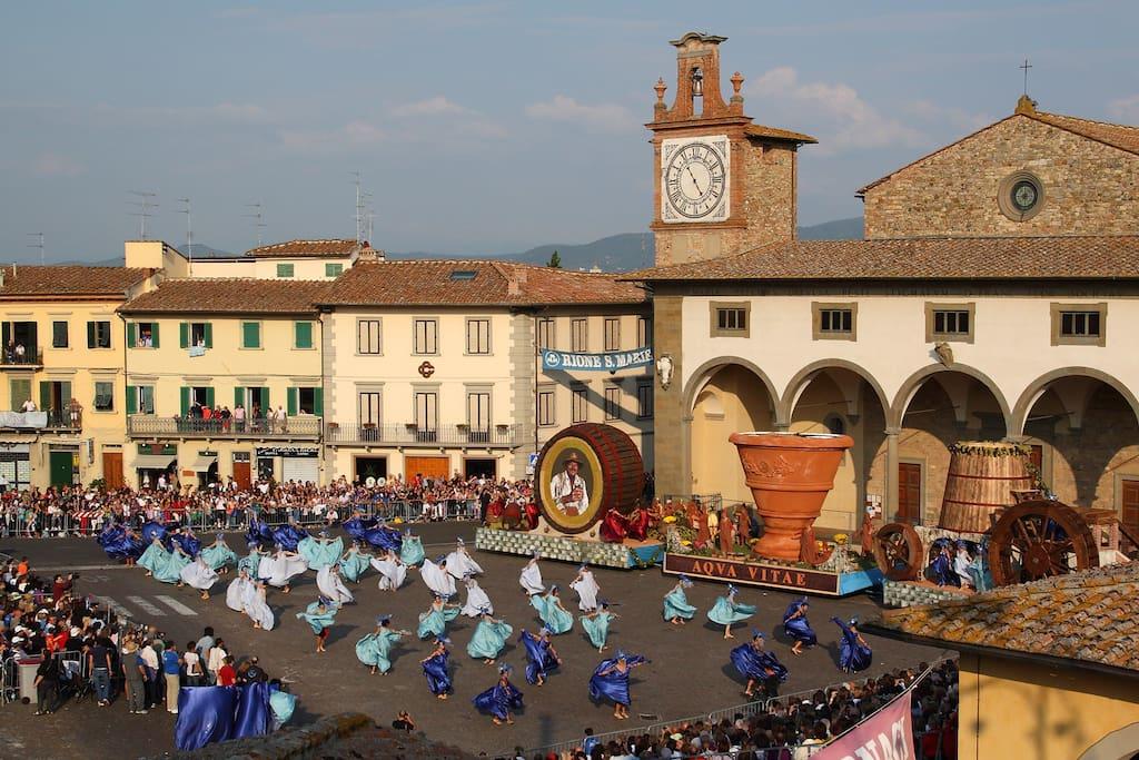 La Festa dell Uva  dal 24 al 25 di settembre, si svolge nella Piazza dell Impruneta ( 1 km.dalla  )