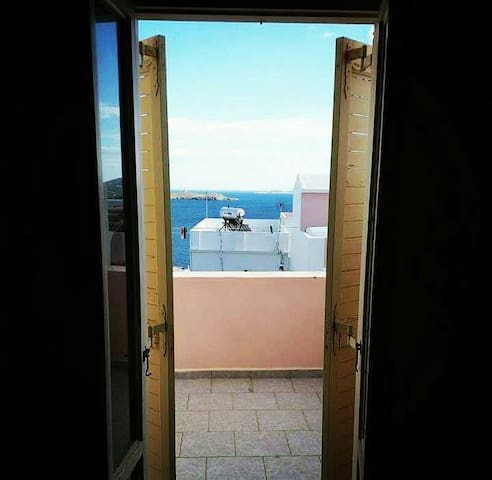 Aegean sea view - home with Cycladic beauty - Ermoupoli - Huis