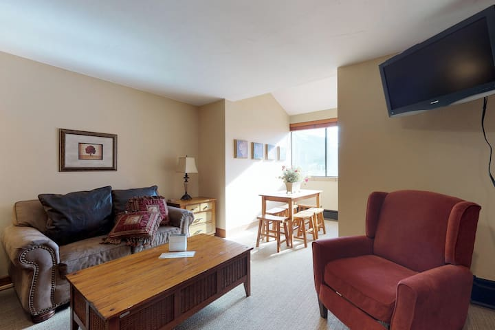 Newly renovated lock-out studio w/ shared hot tub access - walk to lifts!