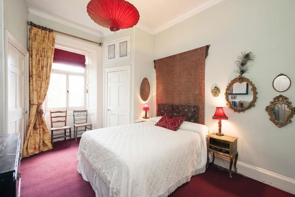 The Red room, has en-suite bathroom.