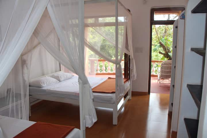 Double Room 7 in peaceful yoga centre setting