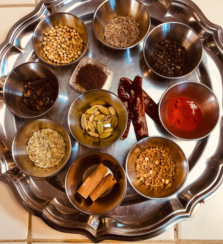 you'll learn about classic Indian spices