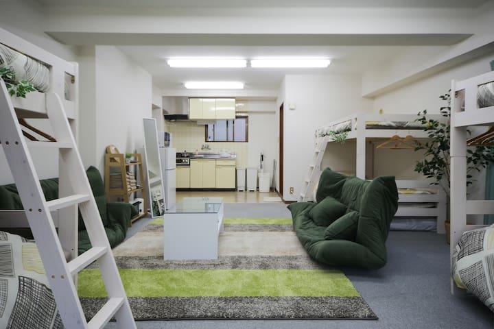 Relaxing space for 8! 5mins to sta+pWifi #TA1 - Shibuya-ku - Apartment