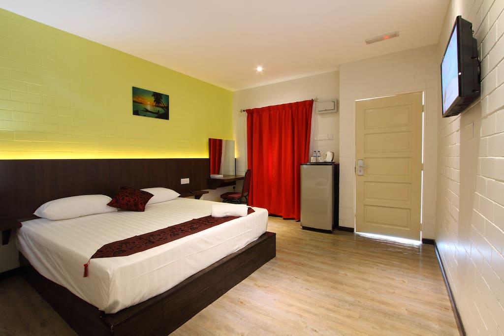 Deluxe King Bedroom Interior 1