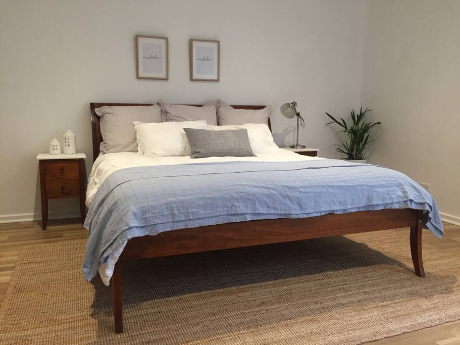 Luscious king-sized bed, so you can relax without feeling squished