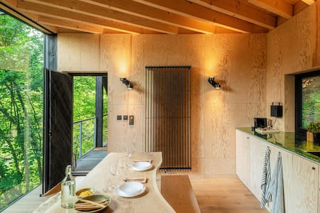HUTSTUF - CABIN & private rooftop SAUNA - The Fox