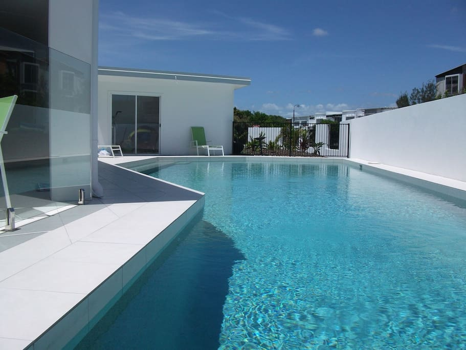 Here is our 15m long pool.