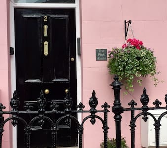 The Pink House, Tenby, Pembrokeshire.