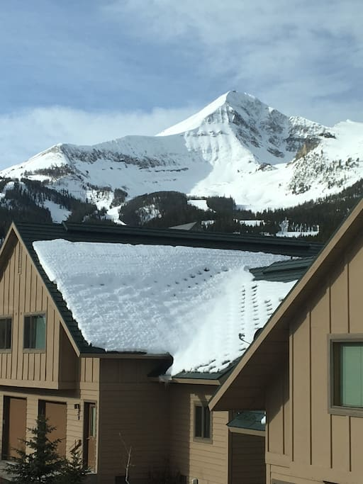 Condo sits right below Lone Peak. Strap your skis on, ski across the road to the poma lift and get up there!!  You can't get much closer.
