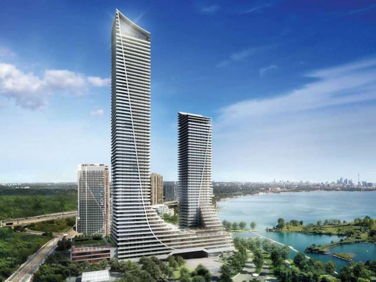 Landmark new towers overlooking the lake