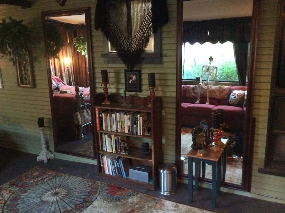 The Goth room library.