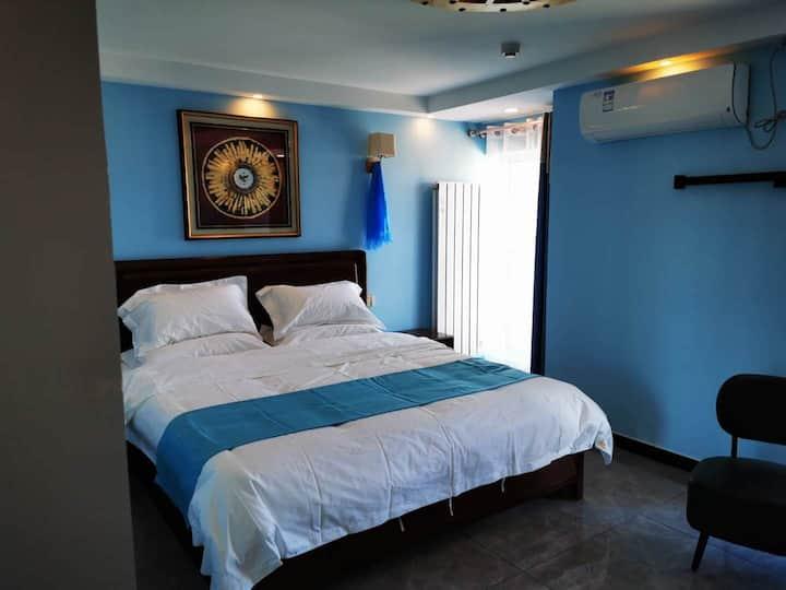 【玥庭】金鼎国际(万达广场对面)蒙古风情大床房,庆格尔泰。