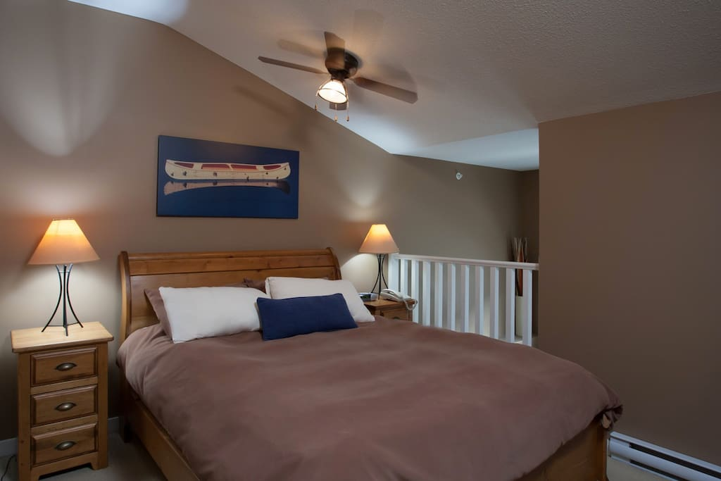 Get a good nights rest in this large comfy bed!