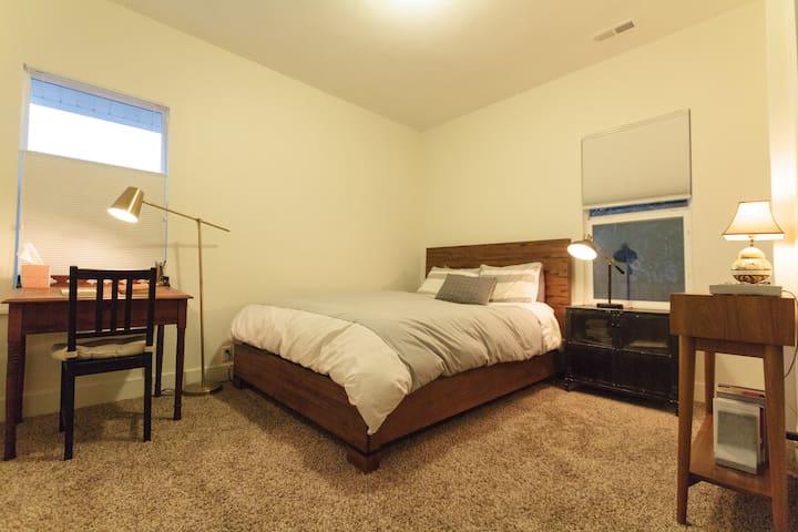 Master bedroom + bath in renovated home near RiNo