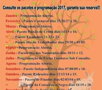 Casa de Campo 2017 + Feriados - São Roque