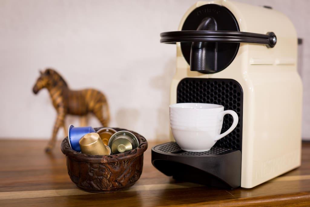 Each room has a Nespresso Machine
