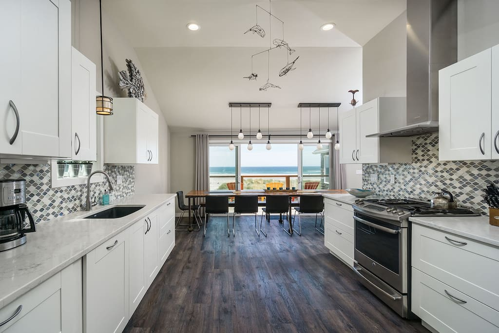 Spacious, new fully-equipped kitchen accommodates many chefs!