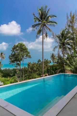苏梅岛泳池海景别墅