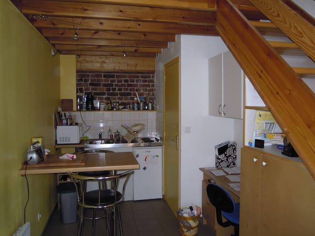 studio dans ancienne grange - Louvil - Flat