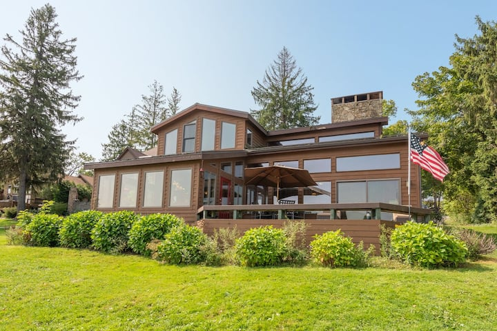 Lakefront Home w/Private Dock, Hot Tub, Fire Pit, & Wood Fireplace!