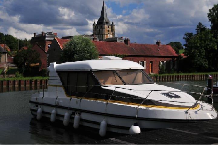 A bord d'un bateau !