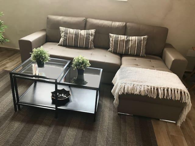 Sofá cama de fácil montaje