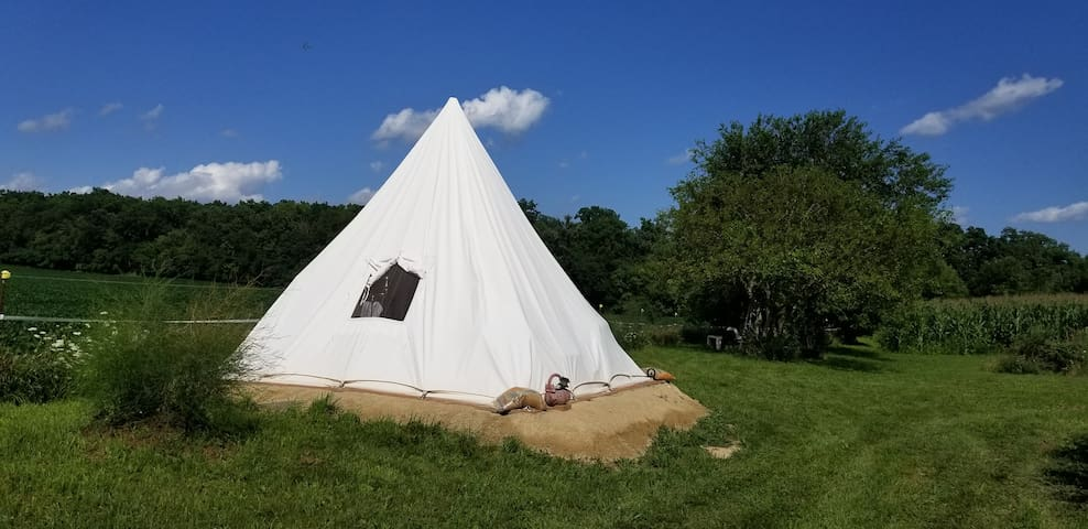 A touch of glamping in a serene, secluded tipitent