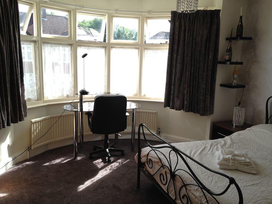 Guest bedroom work space