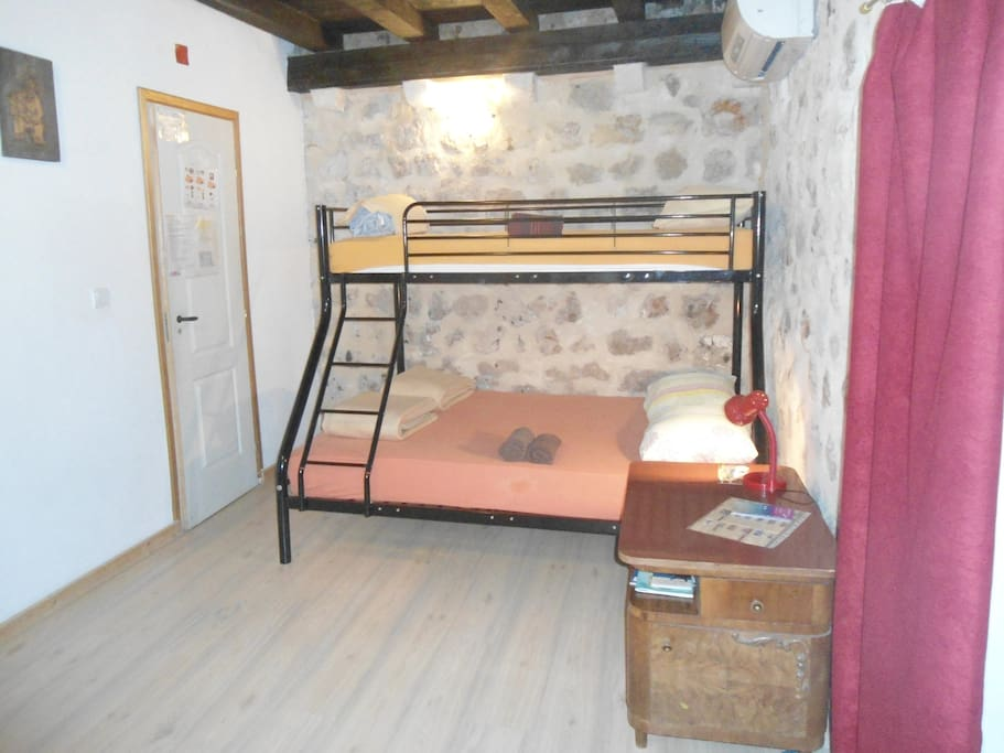 Double room, you can sleep in double bed or twin. If you have third person, there is small supplement. Kids FREE (only sojourn tax, ca. 1 eur)