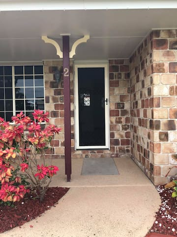 Main entrance to the house and leads to the hallway.